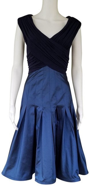 Preload https://img-static.tradesy.com/item/22877951/cache-blue-luxe-by-taffeta-skirt-crossover-slinky-top-mid-length-night-out-dress-size-2-xs-0-1-650-650.jpg