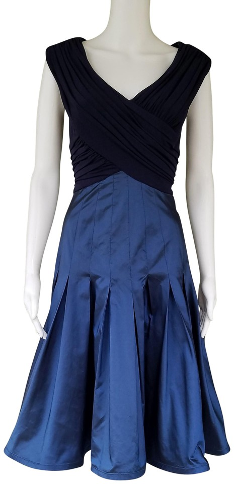 ae929841 Cache Blue Luxe By Taffeta Skirt Crossover Slinky Top Mid-length ...