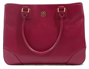 Tory Burch Tote Robinson Handbag Satchel in Pink