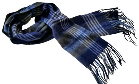 Saks Fifth Avenue NEW boxed 100% Cashmere Wool Fringe Soft Scarf Exploded Plaid Scarf Image 1