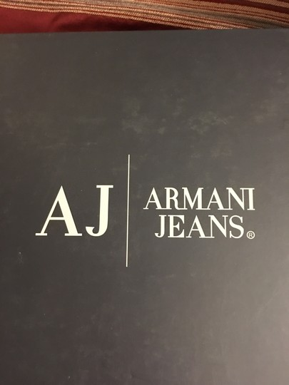 Armani Jeans European Made In Italy Pebble Leather Heels Black Boots Image 6