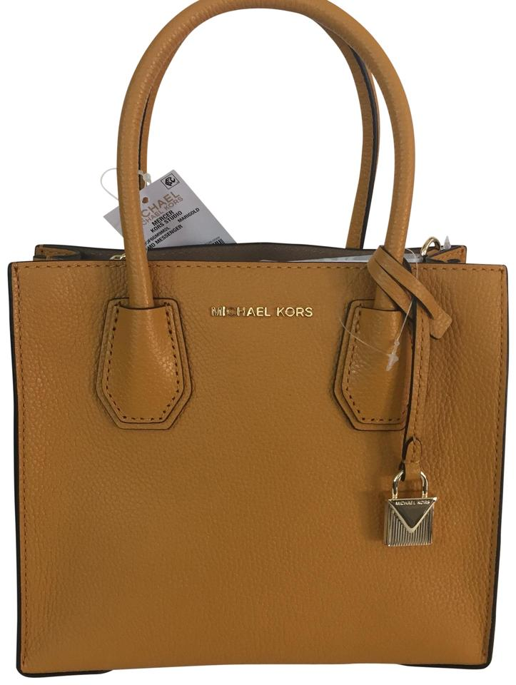 a069c39a25a7 MICHAEL Michael Kors Studio Medium Mercer Marigold Leather Tote ...