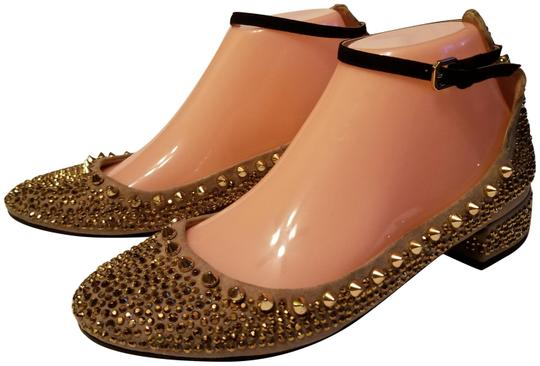 Zara Beige and Gold Flats Image 0