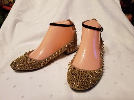 Zara Beige and Gold Flats Image 2