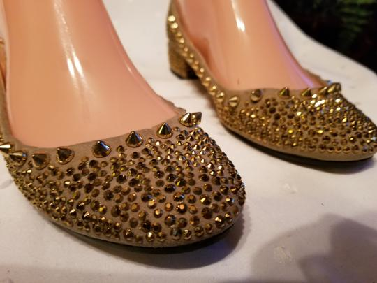 Zara Beige and Gold Flats Image 4