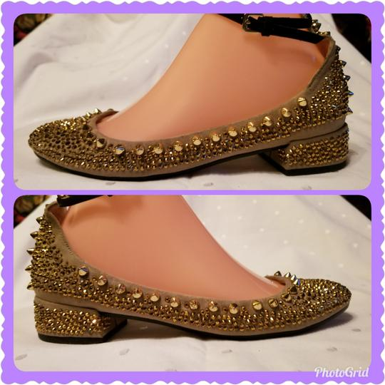 Zara Beige and Gold Flats Image 7