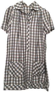 See by Chloé short dress Multi neutrals (black/white/beige) Shirt Plaid Belted Pockets Gingham on Tradesy