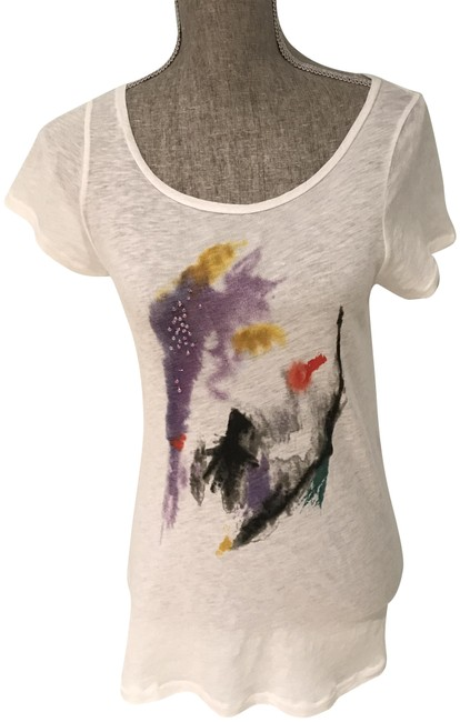 Item - Multi-colored Embellished Small) Tee Shirt Size 6 (S)