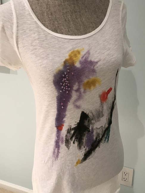 J.Crew Tees Tops Size Small Tees Embellished Tees T Shirt Multi-Colored Image 1