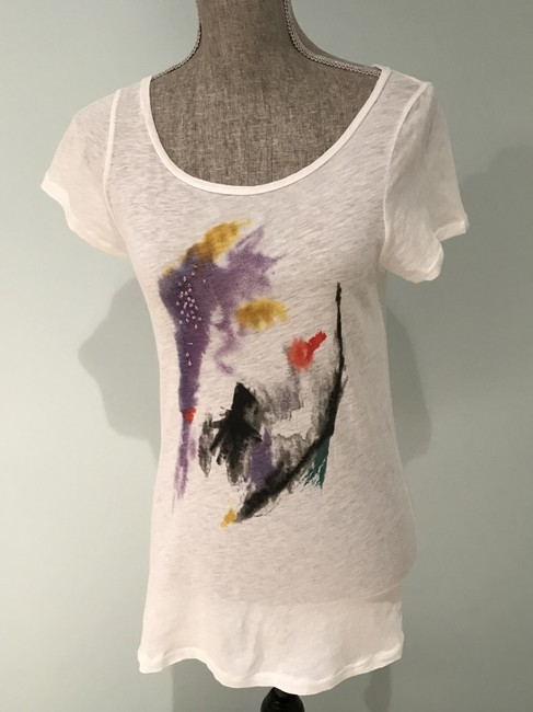 J.Crew Tees Tops Size Small Tees Embellished Tees T Shirt Multi-Colored Image 2