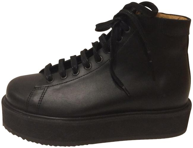 Item - Black New Lace Up Platform Leather Boots/Booties Size EU 36 (Approx. US 6) Regular (M, B)