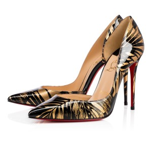 Christian Louboutin Iriza Pigalle Stiletto Patent Floral black Pumps