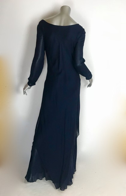 blue navy Maxi Dress by Saks Fifth Avenue Image 2