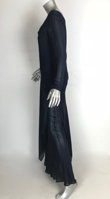 blue navy Maxi Dress by Saks Fifth Avenue Image 3