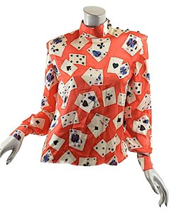 Emanuel Ungaro Vintage Kings Top Red Black White