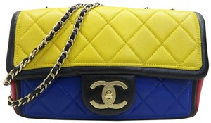 Chanel Classic Medium Multicolor Lambskin Shoulder Bag