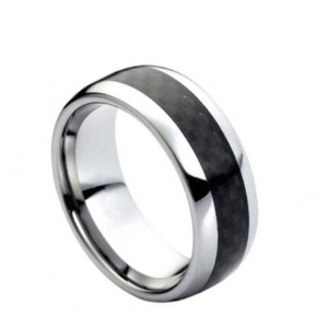 Tungsten Carbide tungsten ring with inlaid design