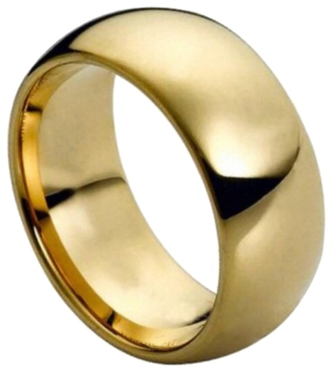 Tungsten Ring 9mm yellow gold tungsten ring Image 0