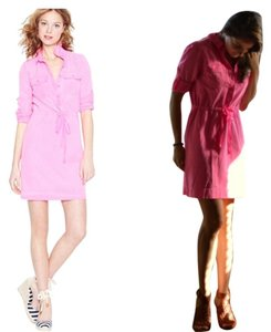 J.Crew short dress Bright Pink Neon Summer on Tradesy