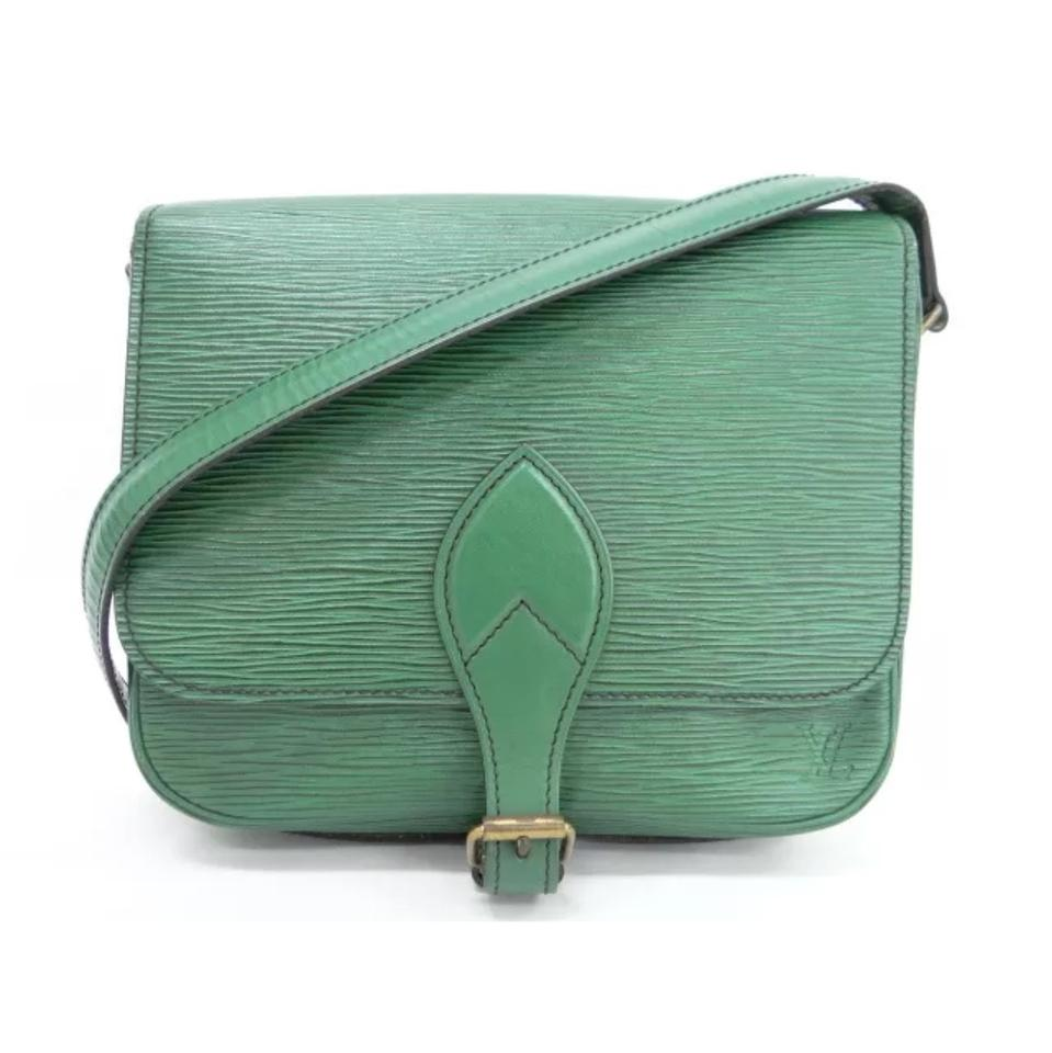 b94c049d289f Louis Vuitton Cartouchiere Mm Small Shoulder Green Leather Cross ...