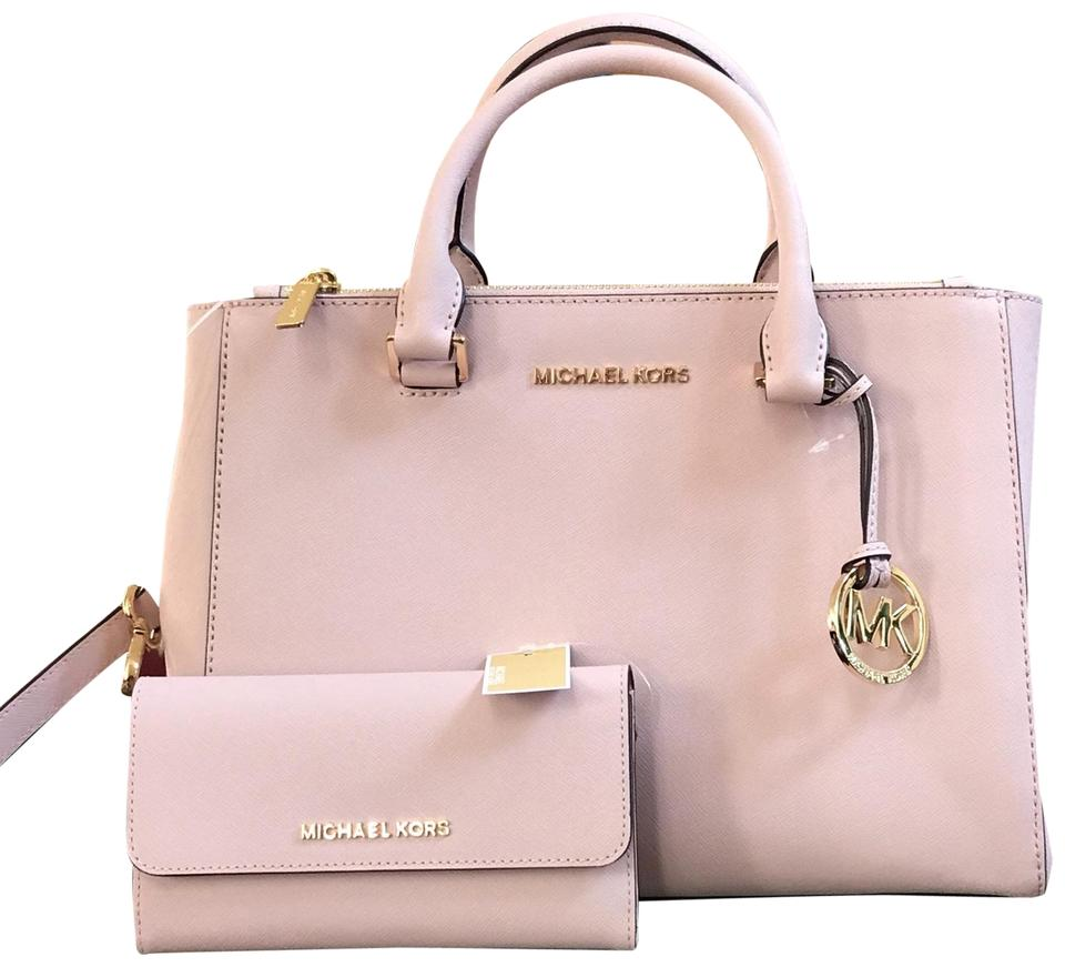 7091abc59a41 Michael Kors Kellen Summer Spring Leather Satchel in BLOSSOM Image 0 ...