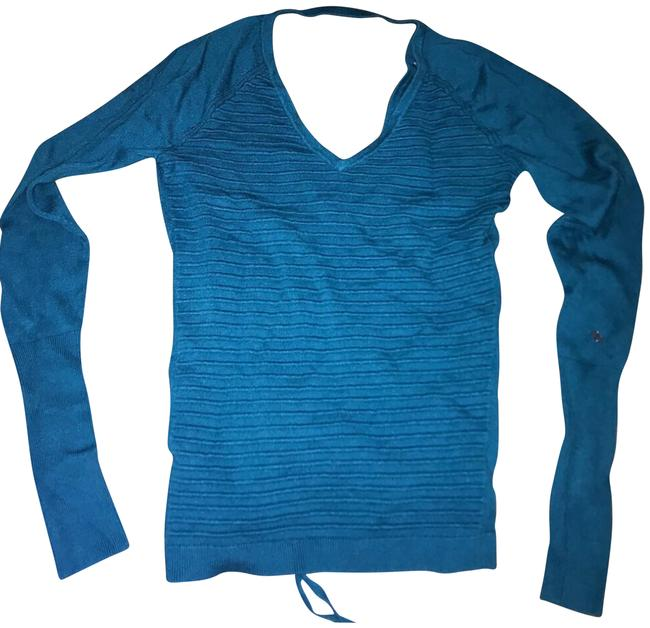Preload https://img-static.tradesy.com/item/22879391/turquoise-women-s-v-neck-sweater-activewear-top-size-4-s-0-1-650-650.jpg