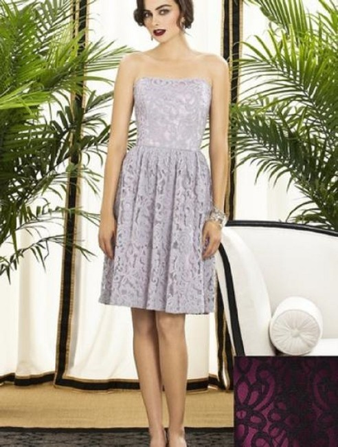 Dessy Lace Cocktail Strapless Dress Image 1