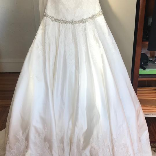 Allure Bridals Ivory Satin and Lace Tulle Gown Feminine Wedding Dress Size 16 (XL, Plus 0x) Image 7