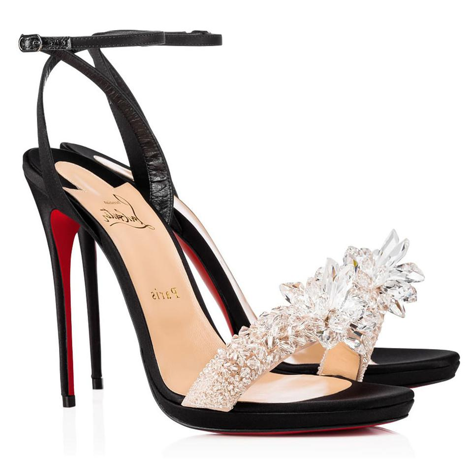 6dd83a88006b Christian Louboutin Elk Crystal Queen 120 Sandals Size EU 39 (Approx ...