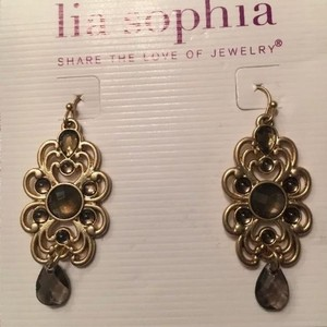 Lia Sophia Madeira Matte Gold Earrings Lia Sophia earrings