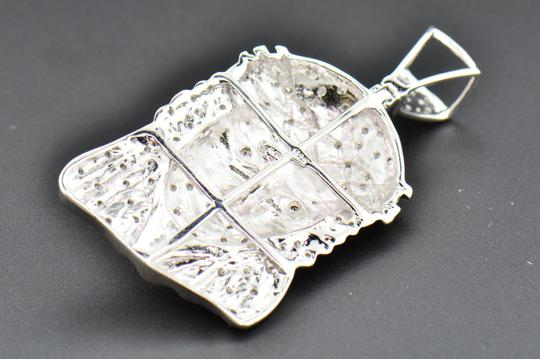 Jewelry For Less Diamond Jesus Face Pendant .925 Sterling Silver 0.60 Ct Charm w/ Chain Image 6