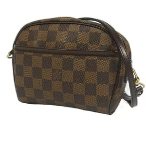 Louis Vuitton Damier Ebene Pochette Ipanema Cosmetic Bag w/ Strap