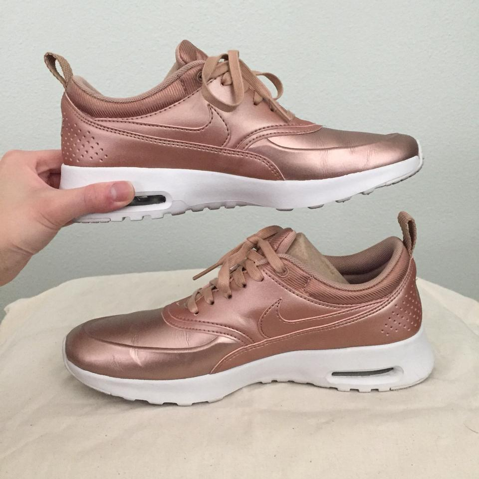 fd4bf7db9fc Nike Metallic Rose Gold Air Max Thea Women s Sneakers Size US 7 ...