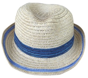 Echo Echo Straw Fedora with blue multicolored band