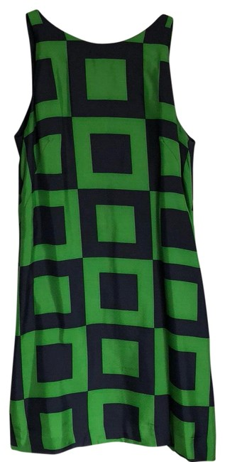 Preload https://img-static.tradesy.com/item/22879895/milly-navy-and-green-shift-mid-length-cocktail-dress-size-2-xs-0-1-650-650.jpg