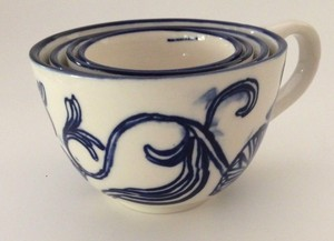 Anthropologie Blue Jardin Des Plantes Measuring Cups Other