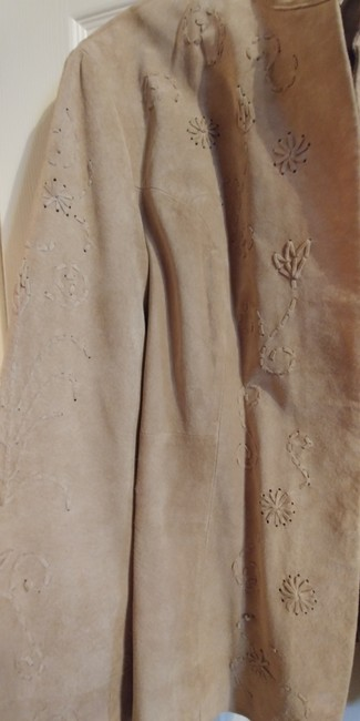 Coldwater Creek Beige Leather Jacket Image 1