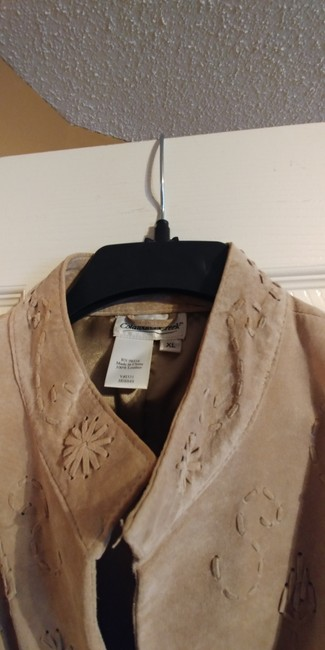 Coldwater Creek Beige Leather Jacket Image 2