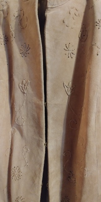 Coldwater Creek Beige Leather Jacket Image 3