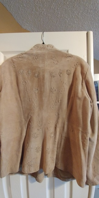 Coldwater Creek Beige Leather Jacket Image 4
