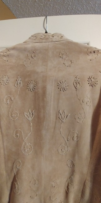 Coldwater Creek Beige Leather Jacket Image 5