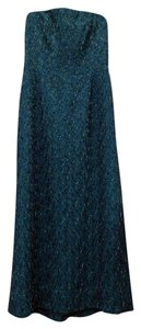 Carmen Marc Valvo Beaded Sheath Evening Prom Dress