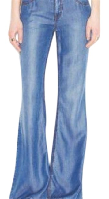 Item - Blue Distressed Imperial Flare Leg Jeans Size 25 (2, XS)