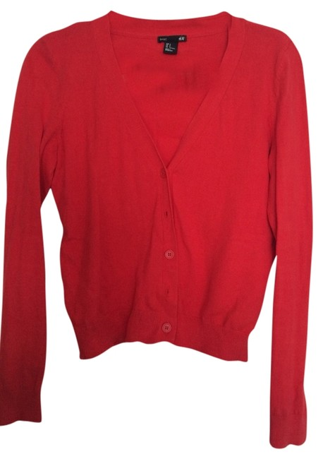 Preload https://item1.tradesy.com/images/h-and-m-cardigan-red-2288040-0-0.jpg?width=400&height=650