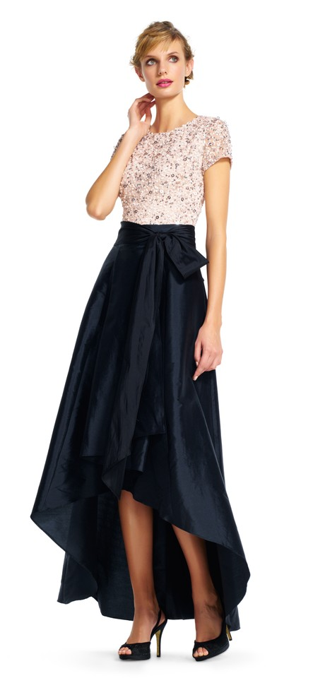 Adrianna Papell Black New Womens Taffeta High Low Ball Skirt Size 8 ...