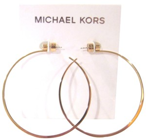 Michael Kors Michael Kors Rose Gold Tone Hoop Earrings Large rose gold-tone hoops