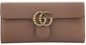 Gucci Gg Marmont Pearl Gold Nude Clutch