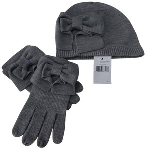 Kate Spade kate spade Dorothy Bow Beanie and Gloves gift set