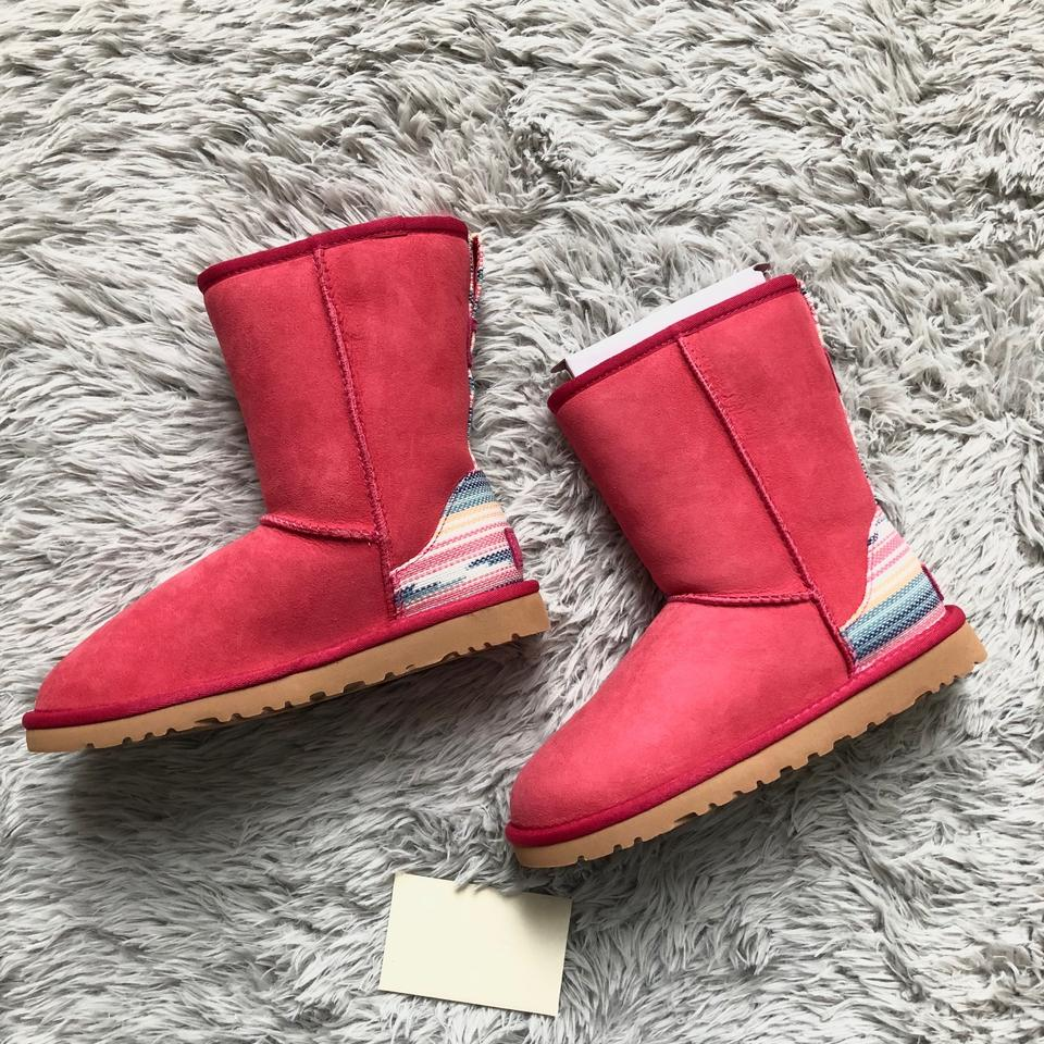 445c4cee8ee UGG Australia Sunset-red-suede Classic Short Uggpure Lined Serape  Waterproof Boots/Booties Size US 5 Regular (M, B) 34% off retail