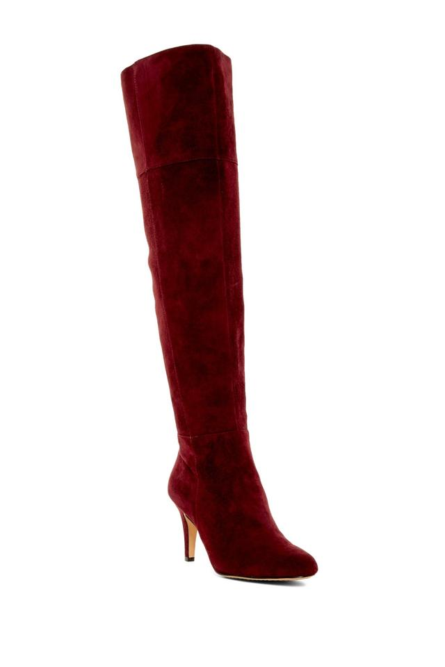 Vince Over-the-knee Camuto Red Cabernet Cessily Over-the-knee Vince Cuffed Leather Boots/Booties a8fc4f